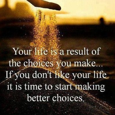 Making Good Choices – Life…Outrageously Real Insights.